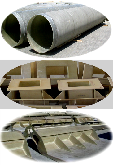 Custom made Composite Pipe & Fittings FRP, GRE GRP, GRVE, RTR