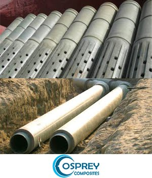 Composites FRP, GRE, GRP, GRVE and HDPE piping systems, and Well Casing