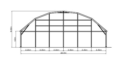 Golden Marquee 20 m clear span